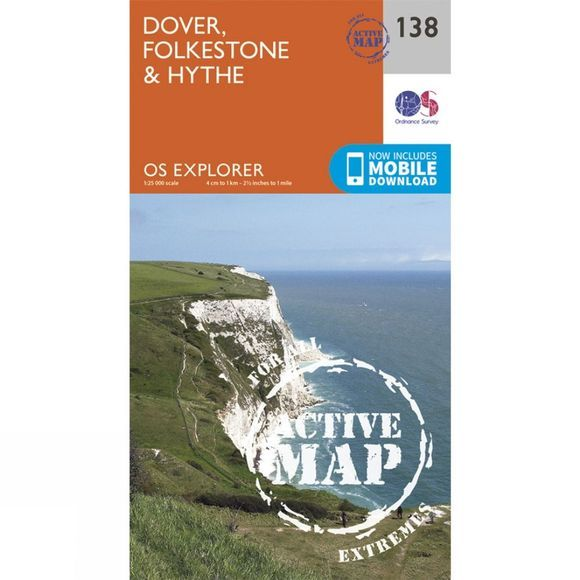 Active Explorer Map 138 Dover, Folkestone and Hythe