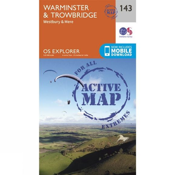 Active Explorer Map 143 Warminster and Trowbridge