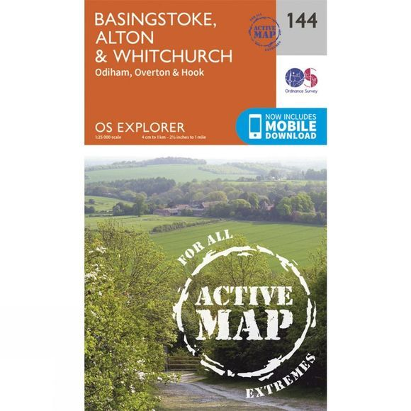 Active Explorer Map 144 Basingstoke, Alton and Whitchurch