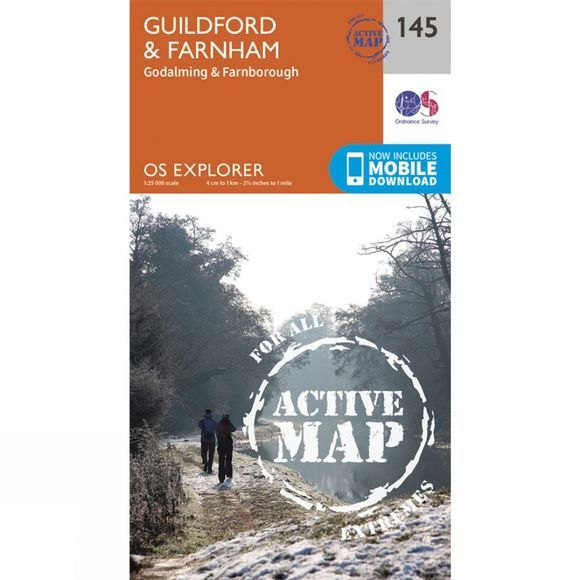 Active Explorer Map 145 Guildford and Farnham