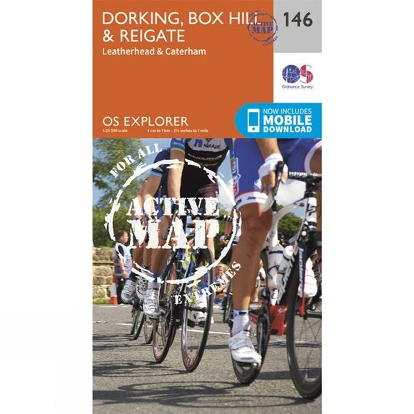 Active Explorer Map 146 Dorking, Box Hill and Reigate