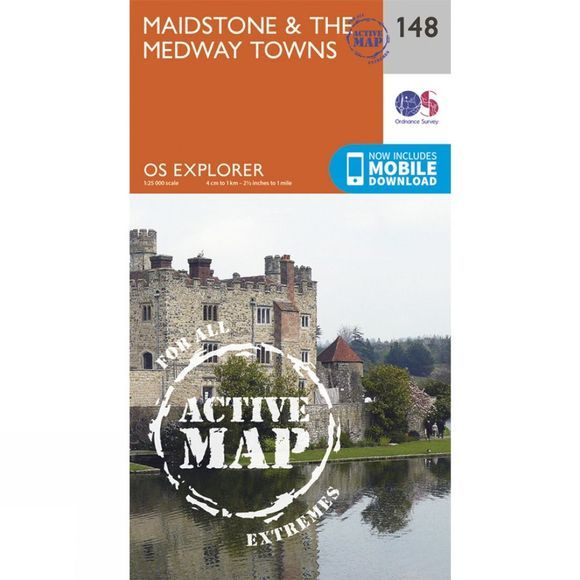 Active Explorer Map 148 Maidstone and the Medway Towns