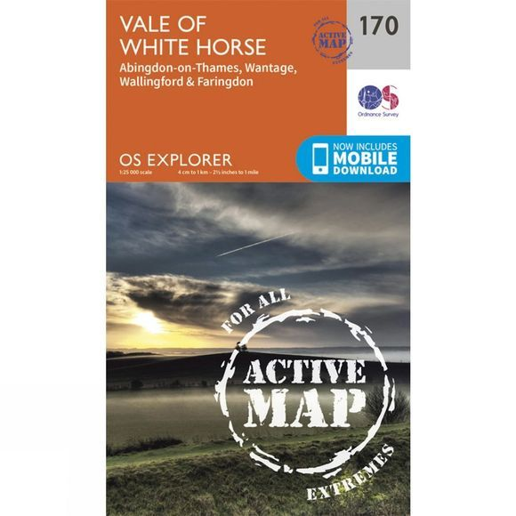 Ordnance Survey Active Explorer Map 170 Vale of White Horse V15