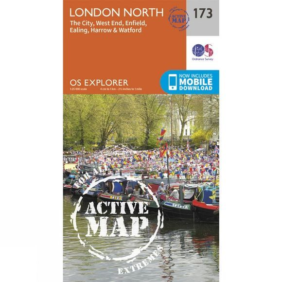 Ordnance Survey Active Explorer Map 173 London North V15
