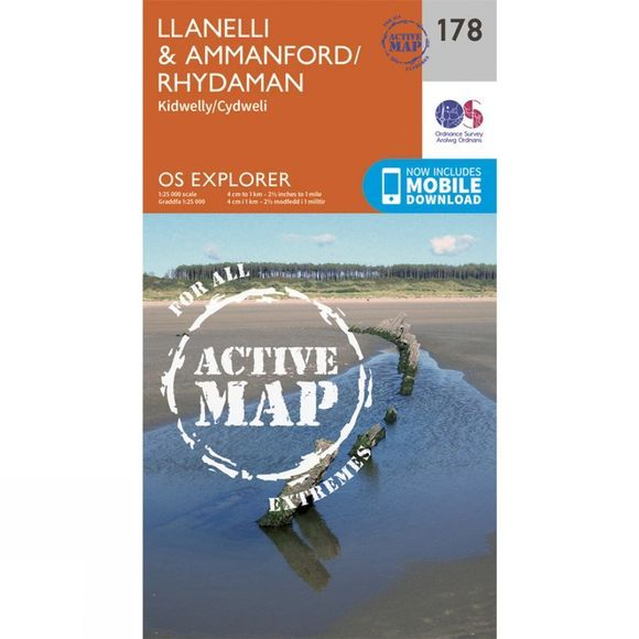 Active Explorer Map 178 Llanelli and Ammanford