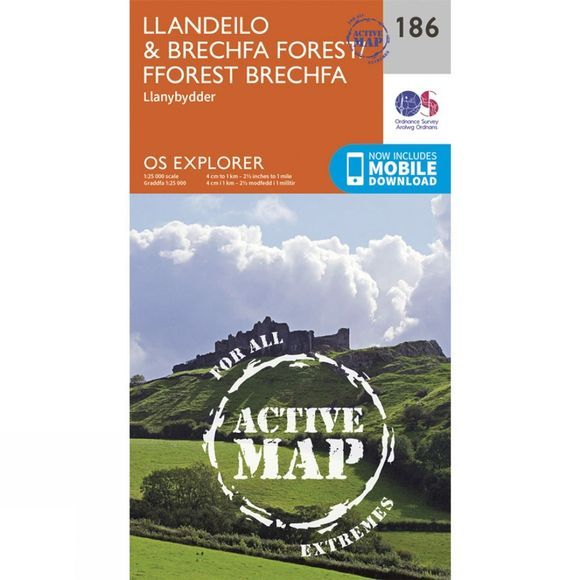 Active Explorer Map 186 Llandeilo and Brechfa Forest