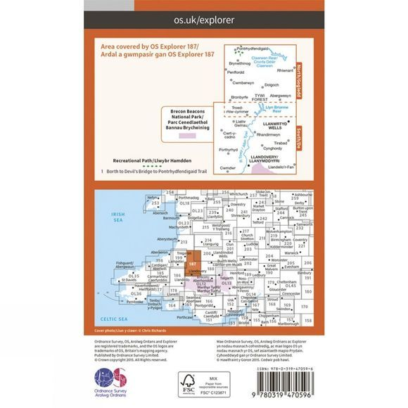 Active Explorer Map 187 Llandovery