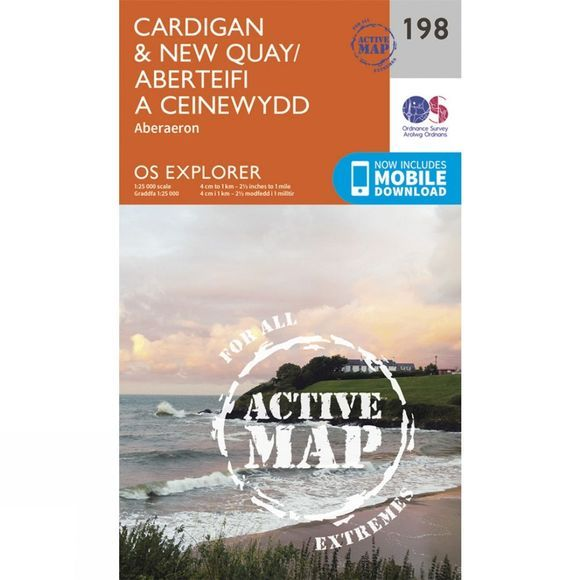 Active Explorer Map 198 Cardigan and New Quay