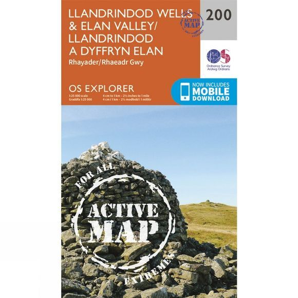 Active Explorer Map 200 Llandrindod Wells and Elan Valley