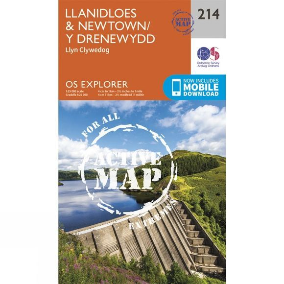 Active Explorer Map 214 Llanidloes and Newtown