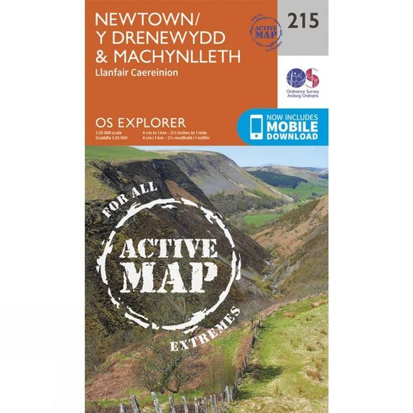 Ordnance Survey Active Explorer Map 215 Newtown and Machynlleth V15