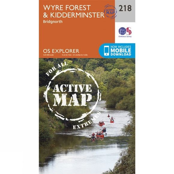 Ordnance Survey Active Explorer Map 218 Wyre Forest and Kidderminster V15