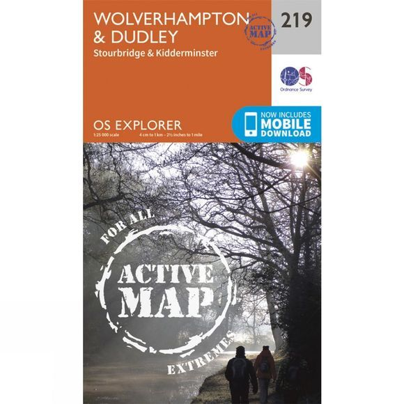 Active Explorer Map 219 Wolverhampton and Dudley