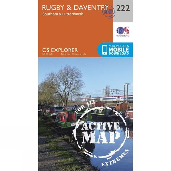 Active Explorer Map 222 Rugby and Daventry