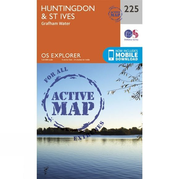 Active Explorer Map 225 Huntingdon and St Ives