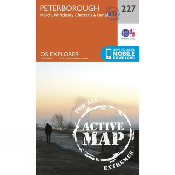 Active Explorer Map 227 Peterborough