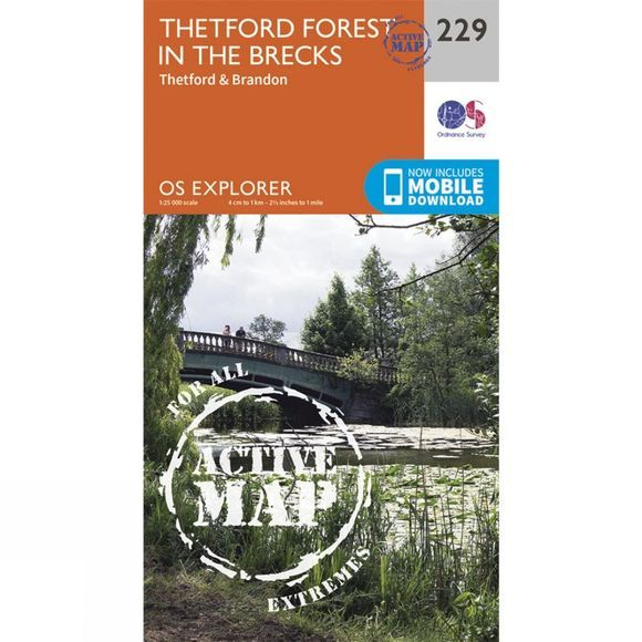 Active Explorer Map 229 Thetford Forest in The Brecks