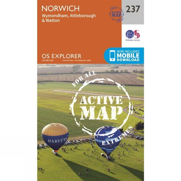 Active Explorer Map 237 Norwich