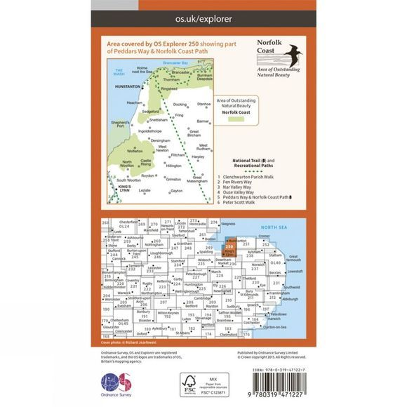 Active Explorer Map 250 Norfolk Coast West