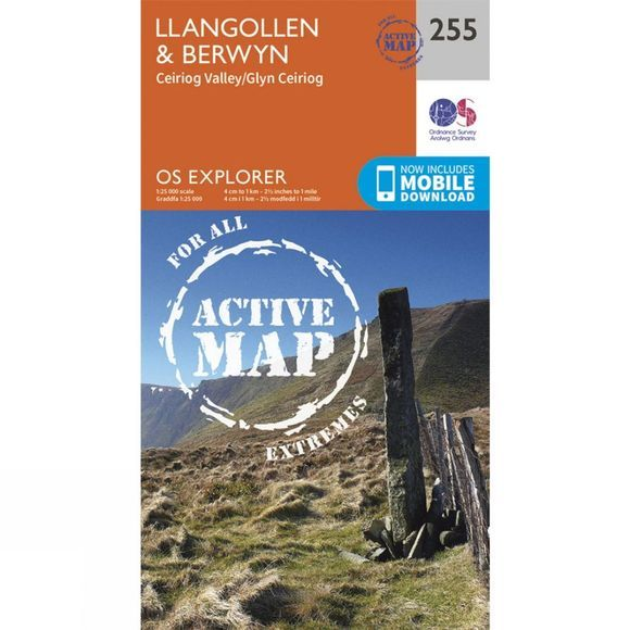 Ordnance Survey Active Explorer Map 255 Llangollen and Berwyn V15