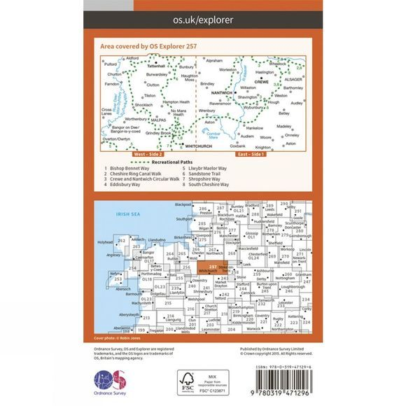 Active Explorer Map 257 Crewe and Nantwich