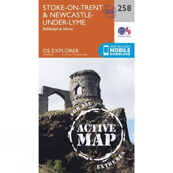 Active Explorer Map 258 Stoke-on-Trent and Newcastle-under-Lyme