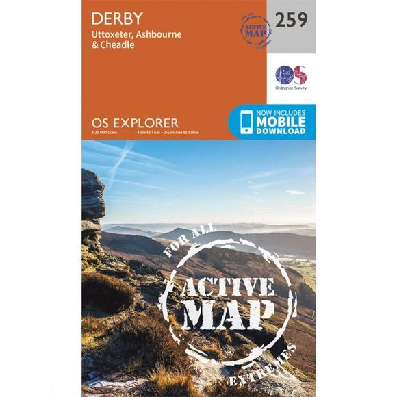 Active Explorer Map 259 Derby
