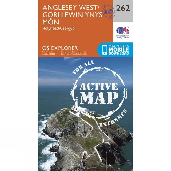 Ordnance Survey Active Explorer Map 262 Anglesey West V15