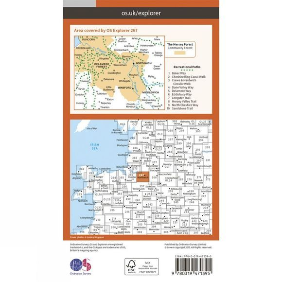 Active Explorer Map 267 Northwich and Delamere Forest