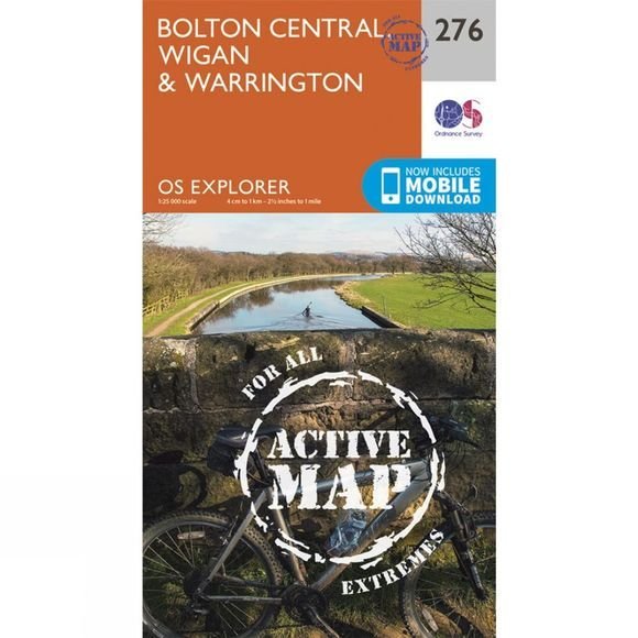 Ordnance Survey Active Explorer Map 276 Bolton Central, Wigan and Warrington V15