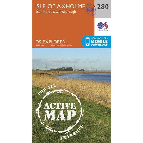 Active Explorer Map 280 Isle of Axholme