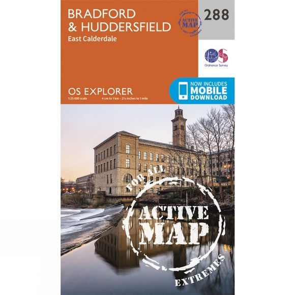 Ordnance Survey Active Explorer Map 288 Bradford and Huddersfield V15