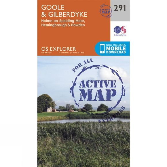 Active Explorer Map 291 Goole and Gilberdyke