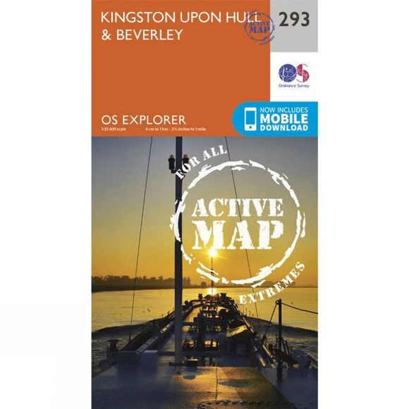 Active Explorer Map 293 Kingston upon Hull and Beverley