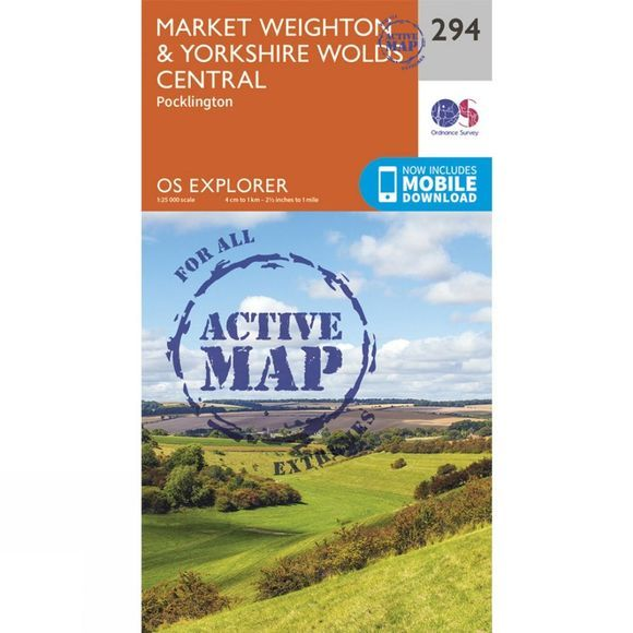 Active Explorer Map 294 Market Weighton and Yorkshire Wolds Central