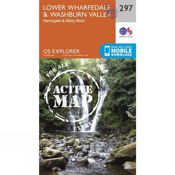 Ordnance Survey Active Explorer Map 297 Lower Wharfedale and Washburn Valley V15