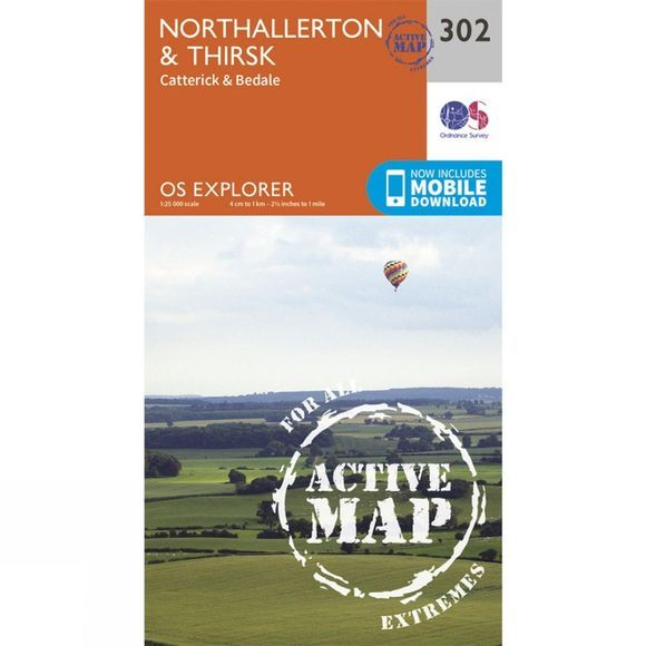 Active Explorer Map 302 Northallerton and Thirsk