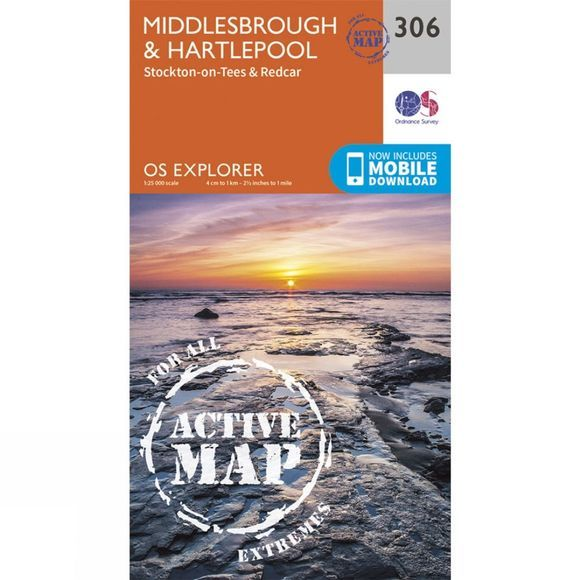 Active Explorer Map 306 Middlesbrough and Hartlepool