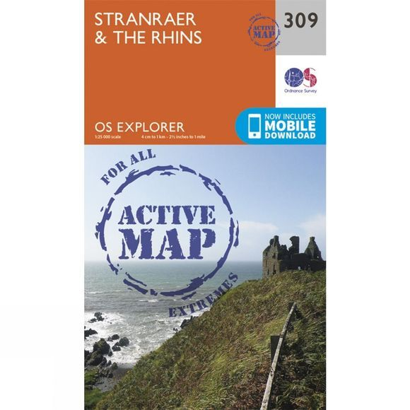Ordnance Survey Active Explorer Map 309 Stranraer and The Rhins V15