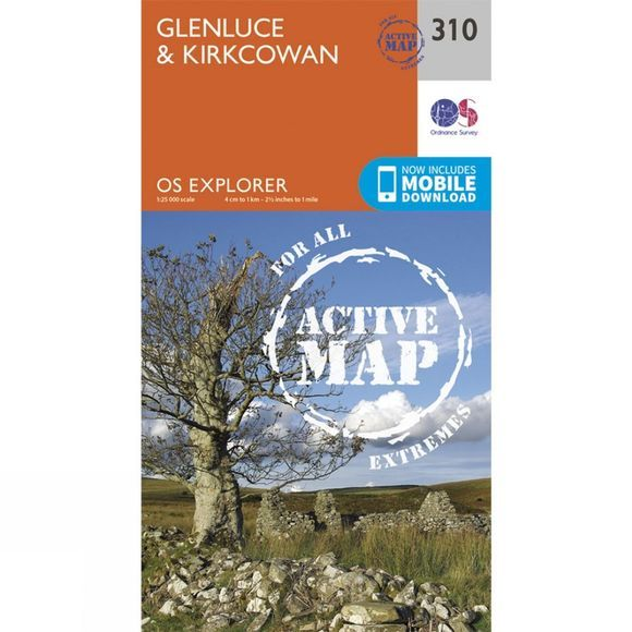 Ordnance Survey Active Explorer Map 310 Glenluce and Kirkcowan V15