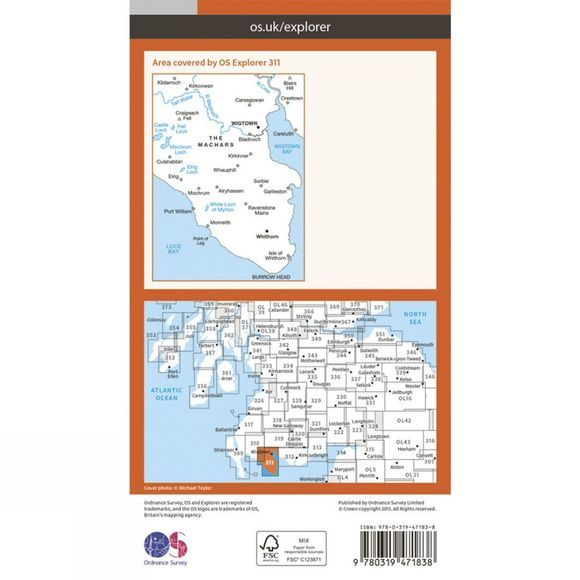Active Explorer Map 311 Wigtown, Whithorn and The Machars