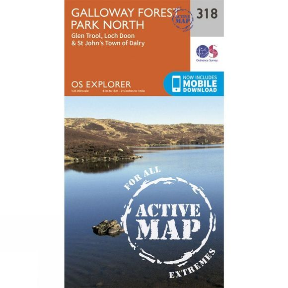 Active Explorer Map 318 Galloway Forest Park North