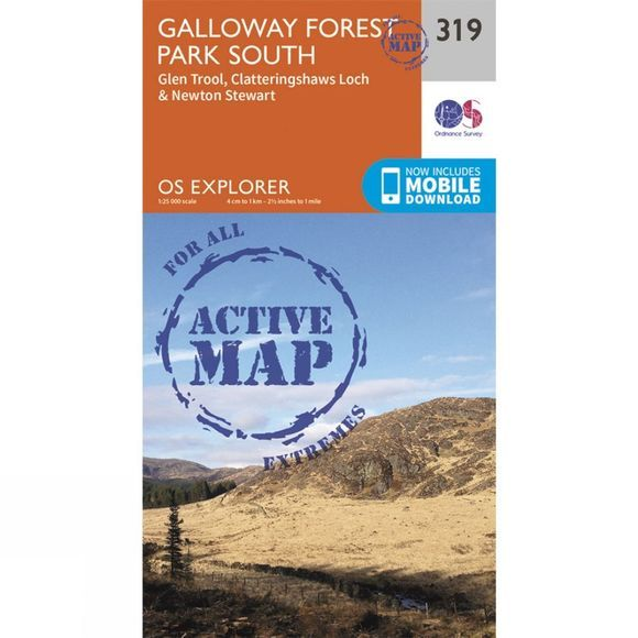 Ordnance Survey Active Explorer Map 319 Galloway Forest Park South V15