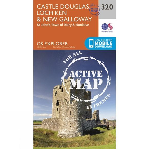 Active Explorer Map 320 Castle Douglas, Loch Ken and New Galloway