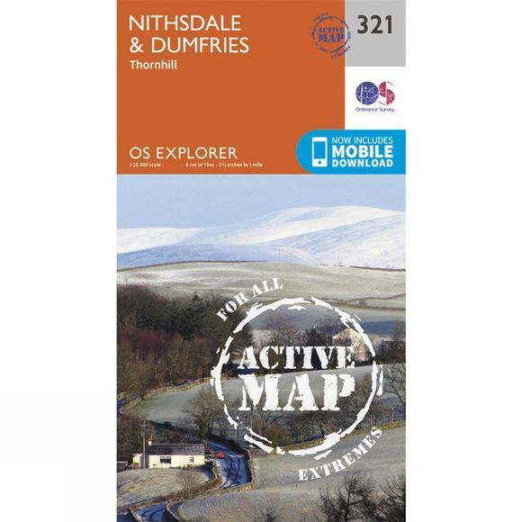 Ordnance Survey Active Explorer Map 321 Nithsdale and Dumfries V15