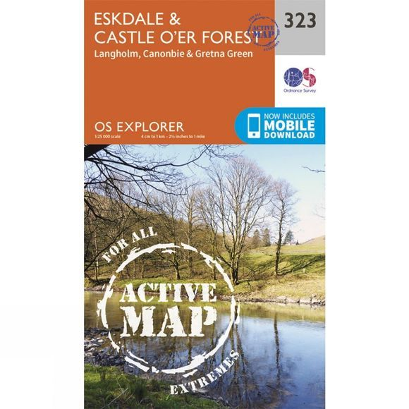 Ordnance Survey Active Explorer Map 323 Eskdale and Castle O'er Forest V15