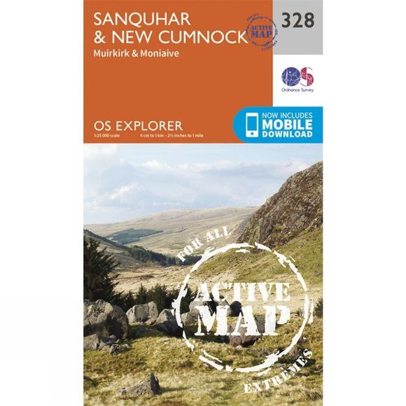 Active Explorer Map 328 Sanquhar and New Cumnock
