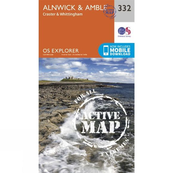 Active Explorer Map 332 Alnwick and Amble