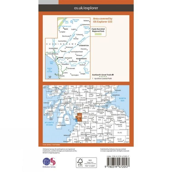 Active Explorer Map 333 Kilmarnock and Irvine
