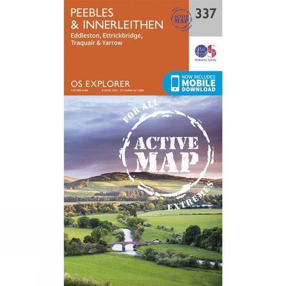 Ordnance Survey Active Explorer Map 337 Peebles and Innerleithen V15